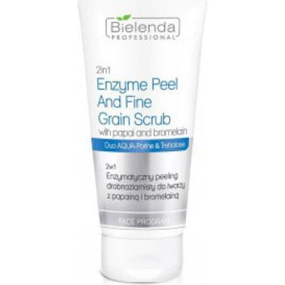 Bielenda Professional 2 IN 1 ENZYME PEEL AND FINE GRAIN SCRUB WITH PAPAI AND BROMELAIN Peeling do twarzy 2 w 1 enzymatyczny, drobnoziarnisty z papainą i bromelainą