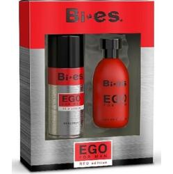 Bi-es EGO Red Edition For Man Zestaw: Woda Toaletowa+Dezodorant Spray 250ml