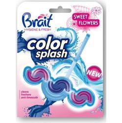 Brait Color Splash Sweet Flowers Kostka toaletowa 2-fazowa do WC 45g